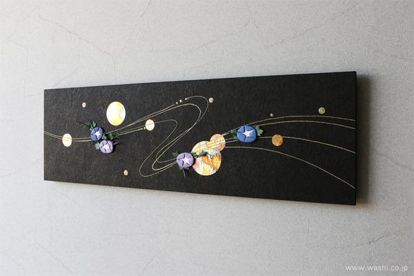 花や雪などのパーツを付け替えて、季節を楽しめるアートパネル (夏・朝顔モチーフ)