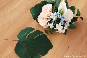結婚1周年、紙婚式の和紙ブーケ。全て和紙で作られたトルコ桔梗ブーケ・花束 (ミニサンプル) (1)
