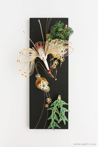 かたちを変えて新たな思い出に。3種類の結納品リメイクパネル (鶴と松竹梅)
