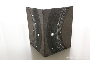 創作デザイン和紙メニューブックカバー (墨と銀箔)