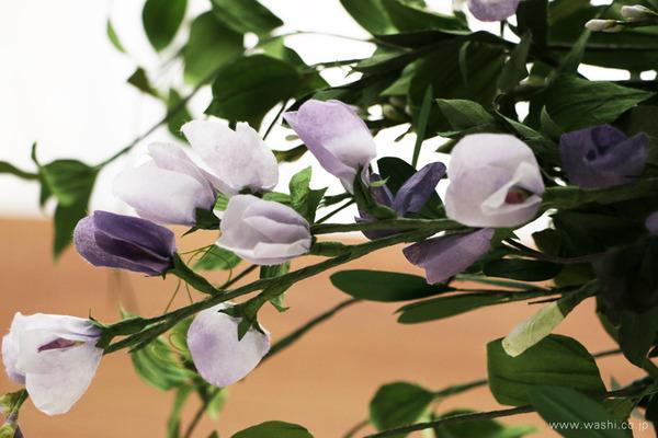 結婚一周年記念日プレゼント・ボタニカルな和紙ブーケ (紫色の花)