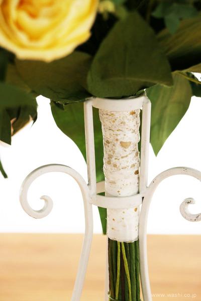 和紙の花オーダー品・ご結婚1周年記念に再現ブーケのプレゼント (持ち手)
