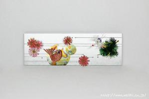 シルバーデザイン+鯛(結納水引リメイクパネル)