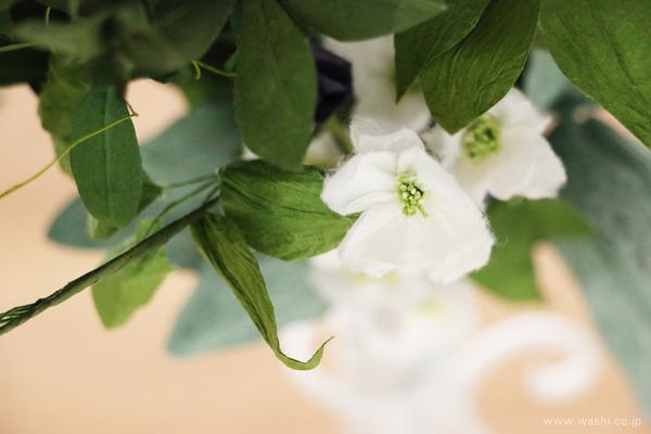 結婚一周年記念日プレゼント・ボタニカルな和紙ブーケ (優しい雰囲気の花々)