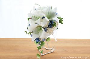 結婚記念日のカサブランカ和紙ブーケ(1)