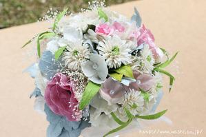 広島県のS様 紙婚式の特注和紙ラウンドブーケ・花束 (3)