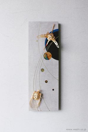 しっとりと落ち着いた雰囲気の結納品リメイクアートパネル (鶴亀)