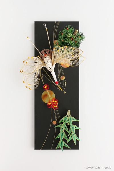 かたちを変えて新たな思い出に。3種類の結納品リメイクパネル (鶴と松竹梅 別アレンジ)