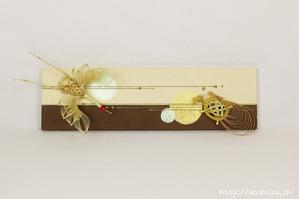 ツートンカラー(東京都N様の結納水引飾りリメイクパネル) (2)