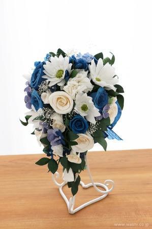 紙婚式記念日に贈る、心のこもった和紙製オーダーメイドフラワー (正面)
