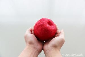 自然乾燥後(リンゴ型オブジェの作り方)