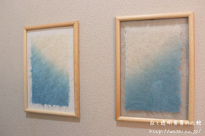 フォトフレームと和紙を使った100均DIY (白と透明背景の比較)