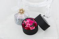 和紙の花のミニバラフラワーボックス結婚1周年記念日紙婚式プレゼント (赤系)