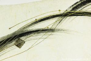 墨デザインの創作和紙4(アップ)