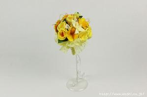 結婚1周年(紙婚式)のプレゼントにオススメの和紙ブーケ・花束(黄)
