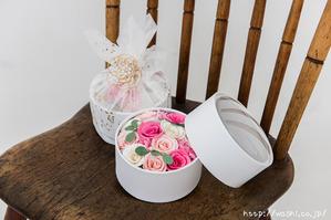 最愛の人に贈る和紙の花−ミニバラのボックスフラワー (5)