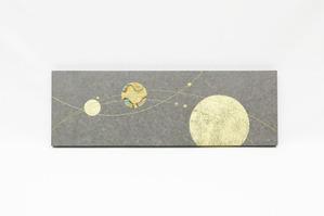 黒ベンガラを使った結納水引リメイクアートパネル(水引無し)