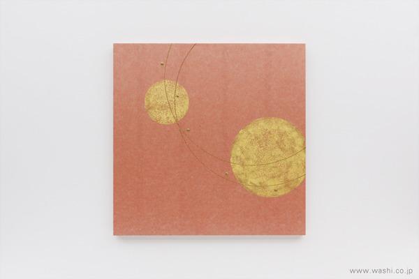 結納飾りをリメイクして3種類の角型アートパネルに (ピンクパネル)