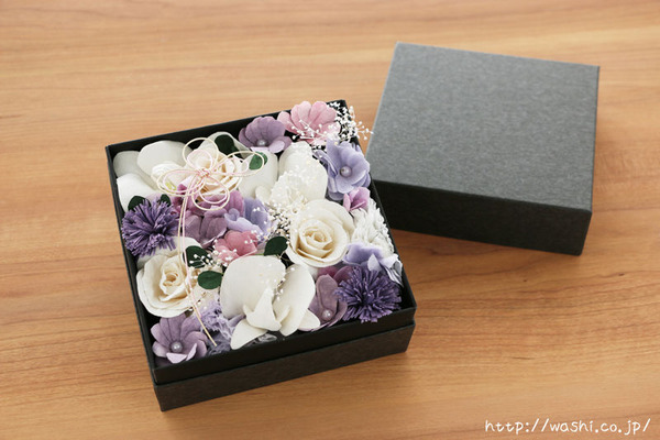 ご祖母様への誕生日プレゼント|和紙の花ボックスフラワー特注品