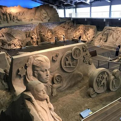 北欧がテーマの砂の美術館