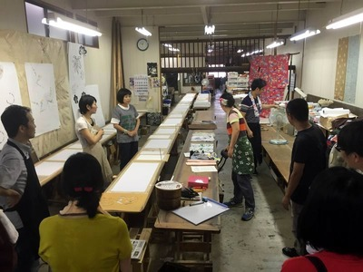 京都で染めのワークショップに参加