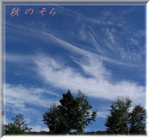 八幡平発・・・秋の空