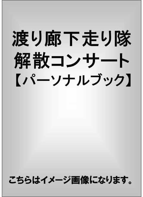 渡り廊下走り隊 解散コンサート 【パーソナルブック】