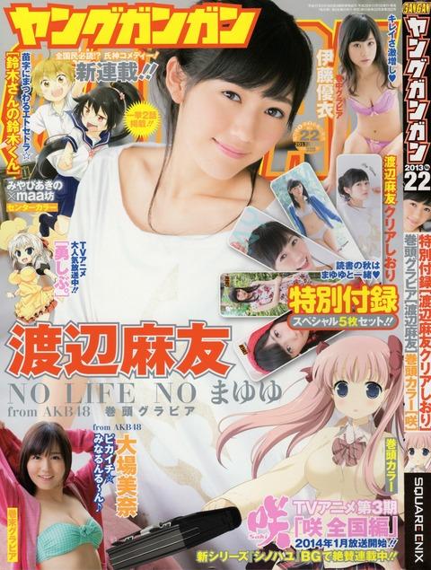 渡辺麻友ガンガン11