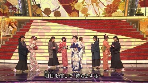 紅白歌合戦での男装した渡辺麻友6