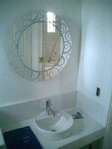 松前の家-O邸 トイレの鏡設置