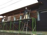 上林の家 板壁塗り再開