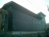 上林の家 板壁塗り完了