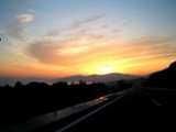 高速からの朝焼け