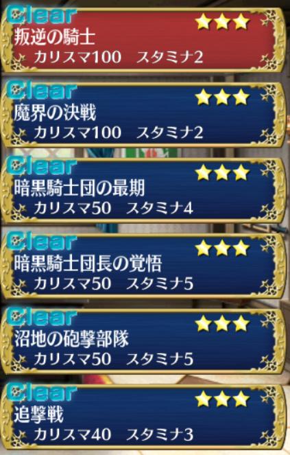 暗黒騎士団の最期リザルト(下省略☆24コンプ)