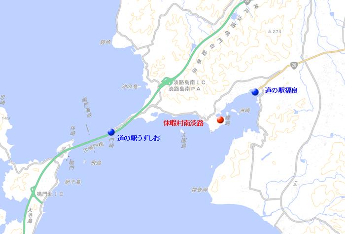 地図 休暇村南淡路