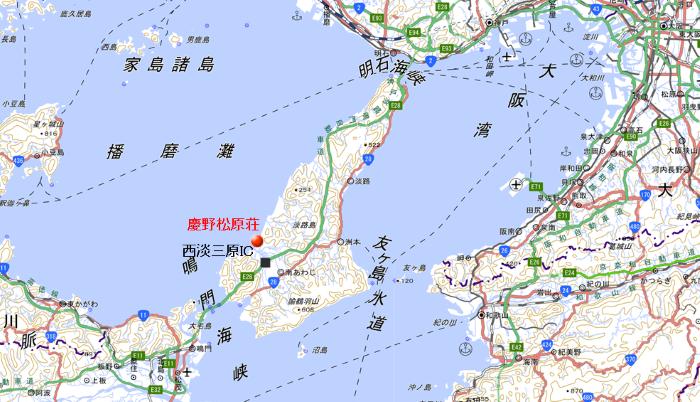 地図 慶野松原荘