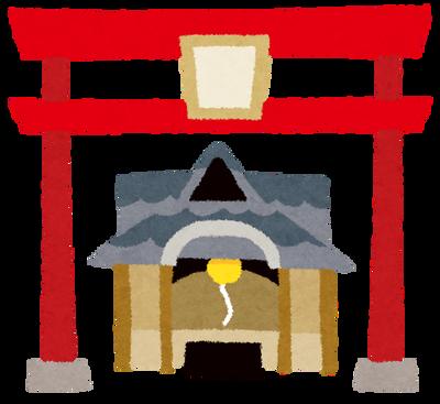【画像】まるで神が降臨したかのような神社の夜明けがこれwwww