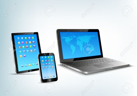 ve-view-Notebook-mobile-phone-touchp-Stock-Vector