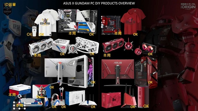 ASUS-GUNDAM-products