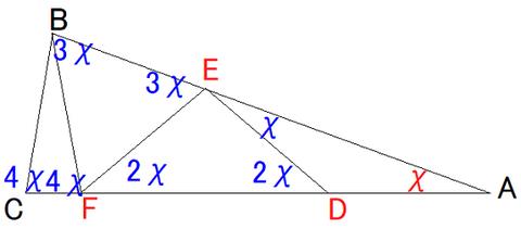 図形問題角度解法