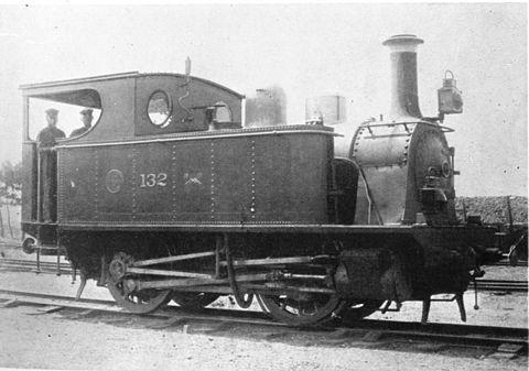 山陽鉄道132号機関車