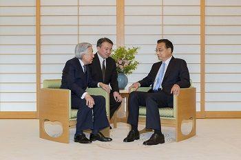 天皇陛下@ご引見(中華人民共和国国務院総理「公賓」)