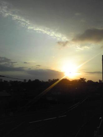 2014年9月28日の朝陽