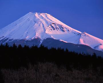 朝陽と富士