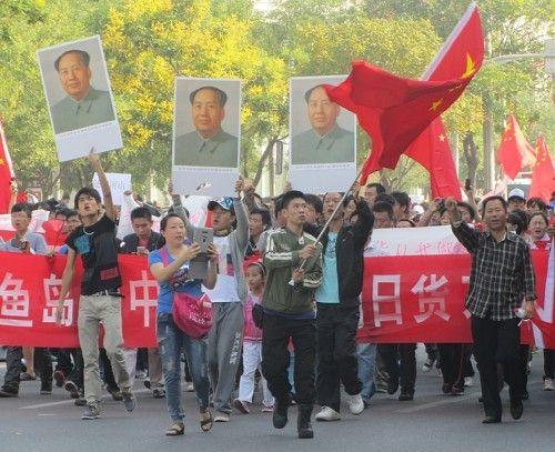 毛沢東@反日デモ