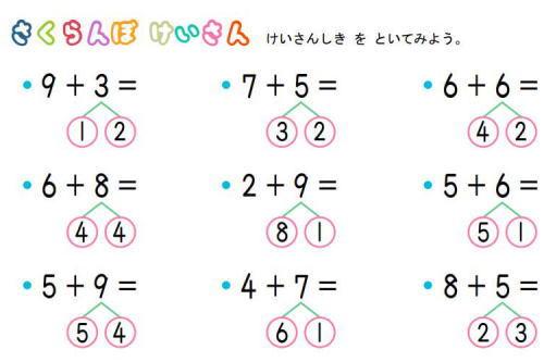 「小学1年生の算数で『さくらんぼ計算』というやり方を強いられている。テストで計算部分を省略したら全部1点ずつ引かれいて笑えない。計算方法についての指示は無かった(画像)」