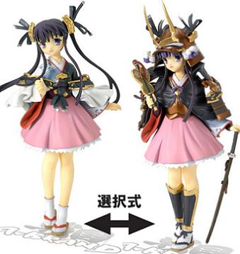 戦国ランス 1-6 香姫(着物、甲冑コンパチ) 未塗装組立フィギュア