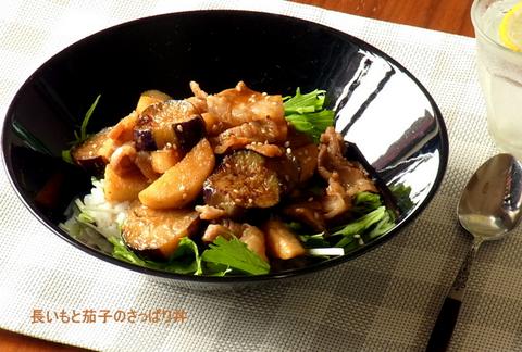 手抜きでサクッと!レシピ vol.04 「長芋と茄子のさっぱり丼」
