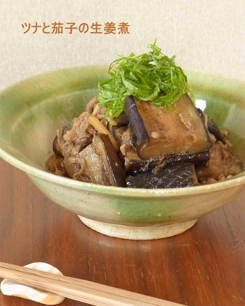 手抜きでサクッと!レシピ vol.07 「ツナと茄子の生姜煮」