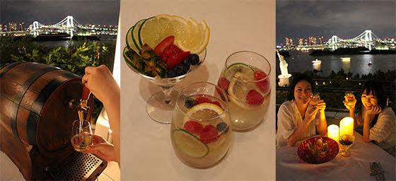 お台場の夜景を眺めながらスパークリングワインを存分に!?  リストランテ マンジャーレの期間限定プラン「スパークリング&フルーツシーサイドリゾートテラス」へ急げ!